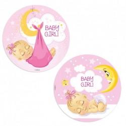 Discos oblea Baby girl 20 cm.