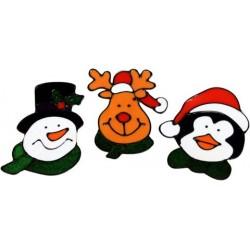 Pegatinas de gel personajes de Navidad
