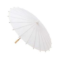 Sombrilla de papel y bambú