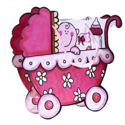 Bolsita de regalo Coche rosa