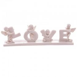 Angelitos con letras LOVE