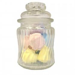 Bote de cristal Caramelos lineas remolino