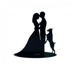 Figura para tarta Novios con perro