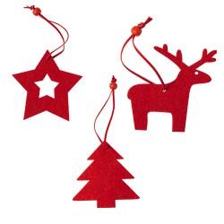 Set 3 adornos navideños