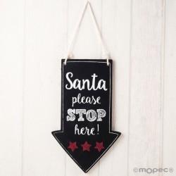 Cuadro indicación navideña