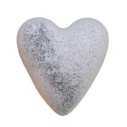 Corazones Mega Burbujas - Glitter Musk blanco (con brillo)