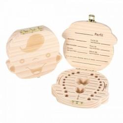 Cajita de madera para guardar los dientes de leche - Niño