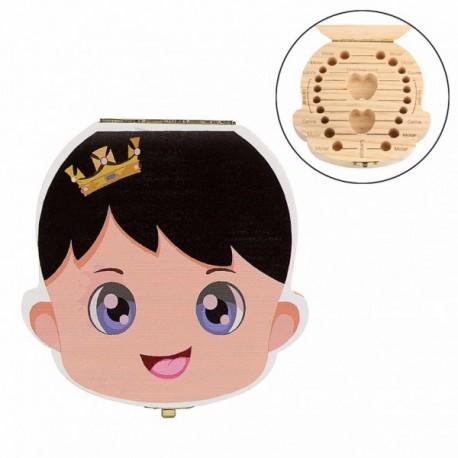 Cajita de madera para guardar los dientes - Niño